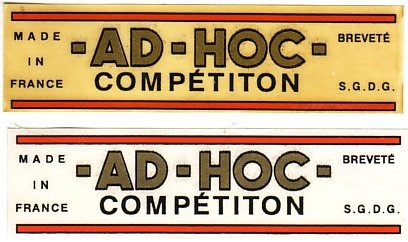 AD-HOC COMPETITION