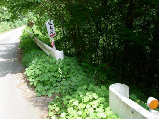 坂丸峠 森戸への旧道入口