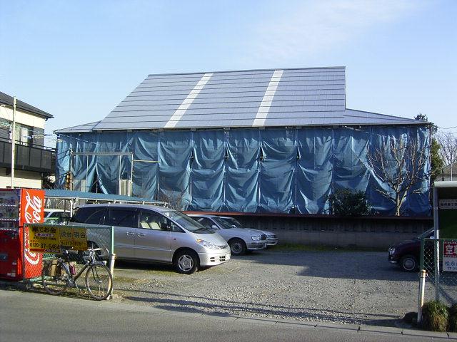 修復中の遷蕎館