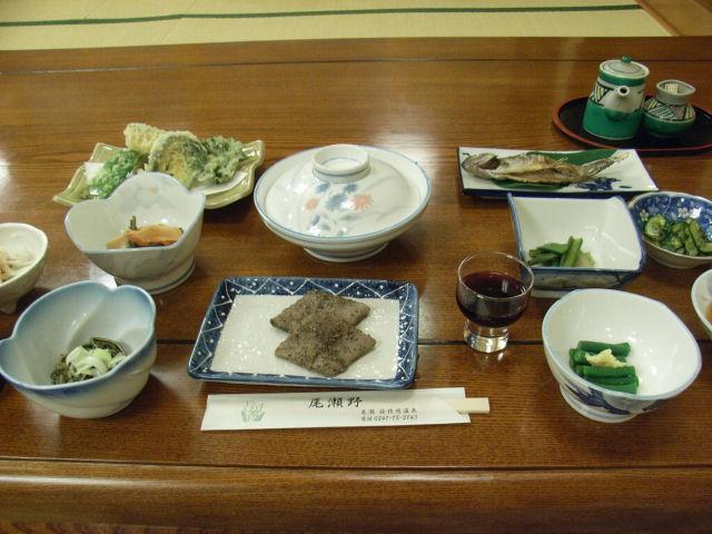 民宿尾瀬野の山人料理